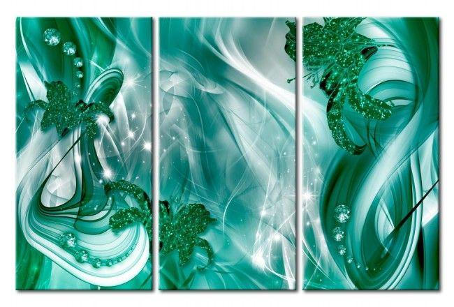 Cuadro en vidrio acrílico Emerald Melody [Glass]