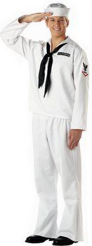 Adult White Sailor Costume - Candy Apple Costumes