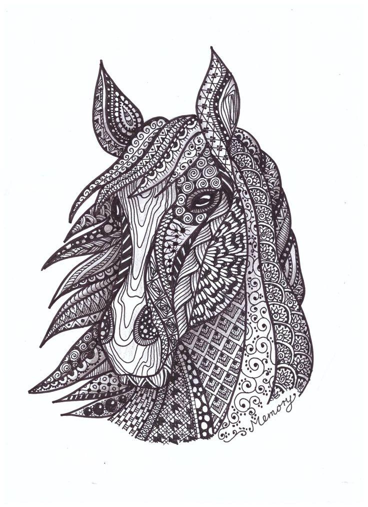 Zentangle ló - Inhoff Anita