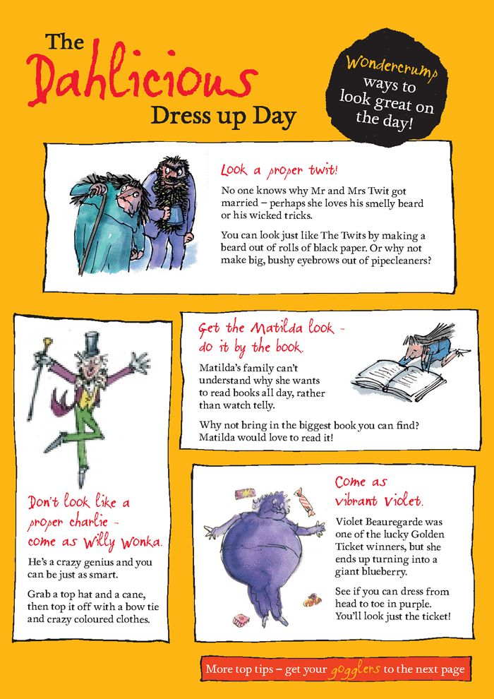 How to dress up as a Roald Dahl character - ideas and tips | Children's books | guardian.co.uk