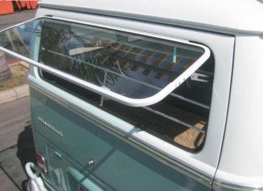 Aircooled Shop Ersatzteile für luftgekühlte Fahrzeuge - Safari Fenster Safari Window hinten VW T2a T2b T1 pulverbeschichtet weiß