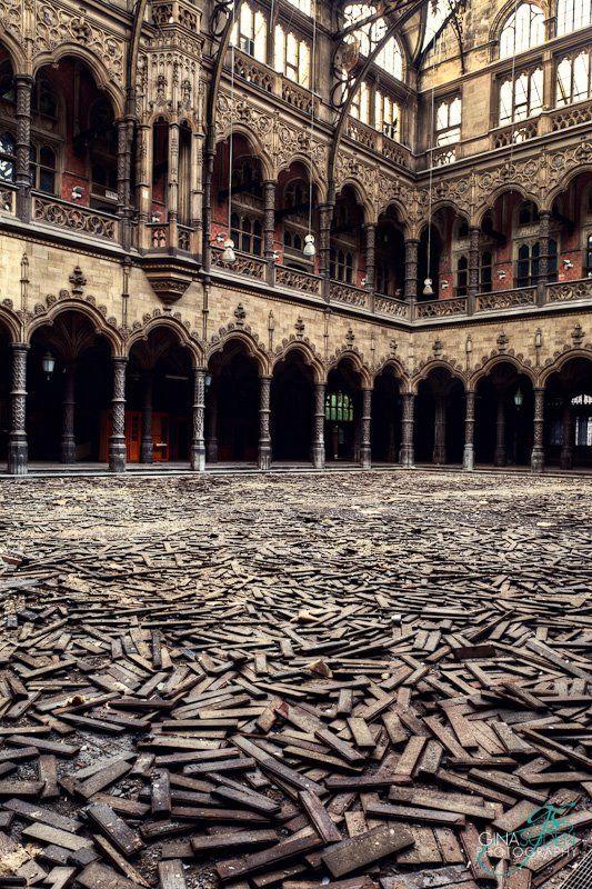 . Abandoned Market,Antwerp Trade Market- Belgium.