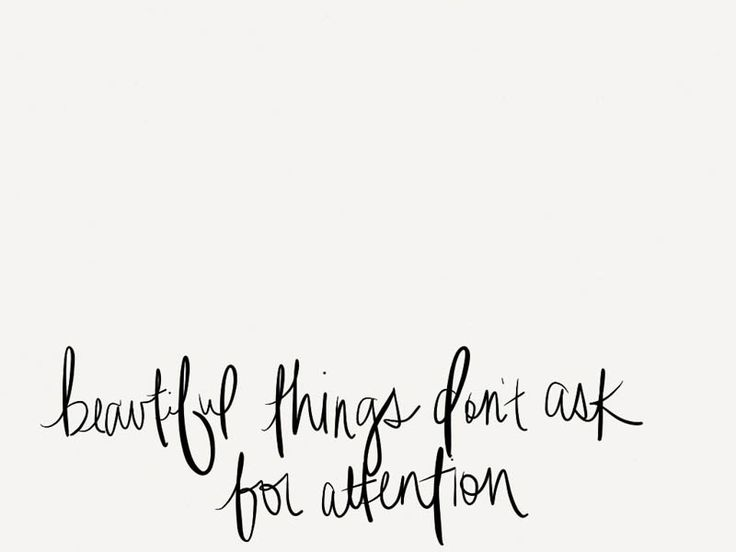 things attention
