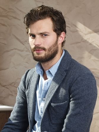Jamie Dornan.  I usually don't like this much facial hair but on him..... Yes, please!