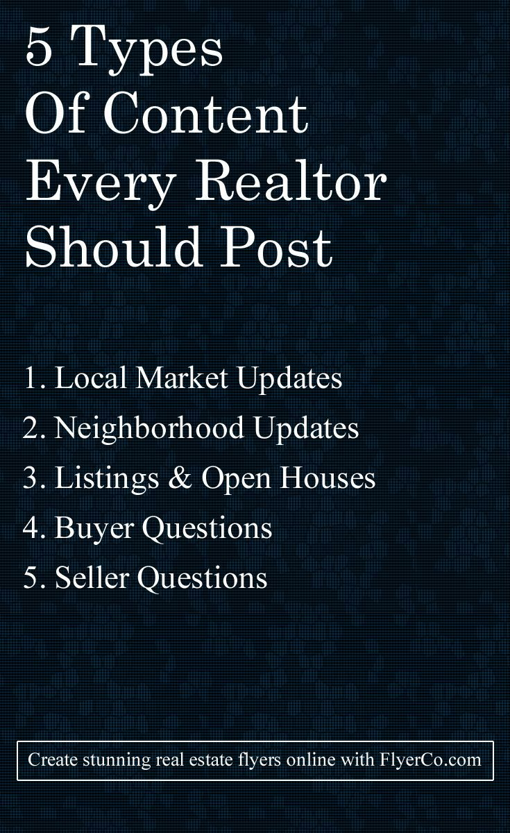 Content ideas for realtors
