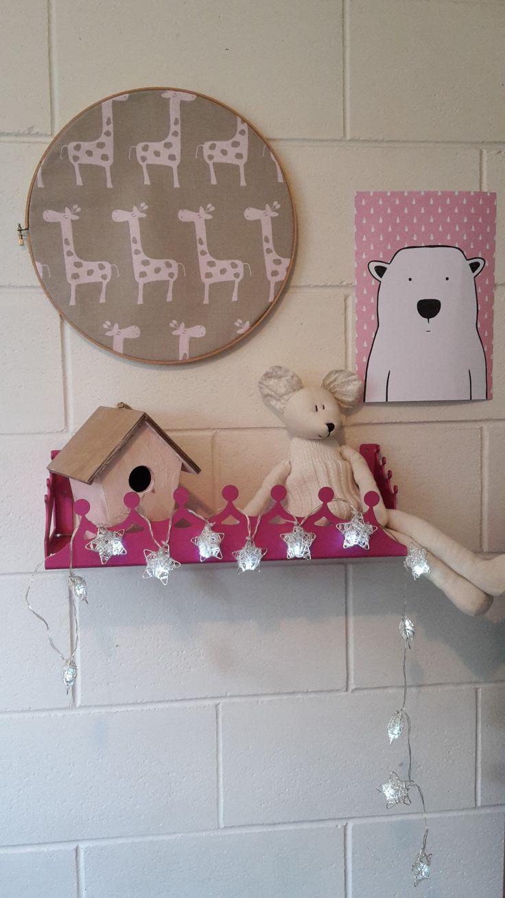anodised aluminium pink tiara shelf