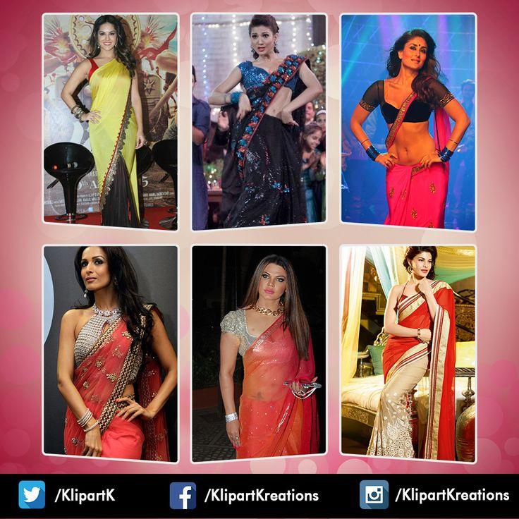 25 Best Bollywood Divas In Sari Drapes By Kalpana Shah