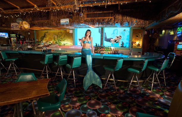 """ Sip 'N Dip Lounge "". Live Mermaids in Great Falls, Montana. Photo by: Scott Photography"