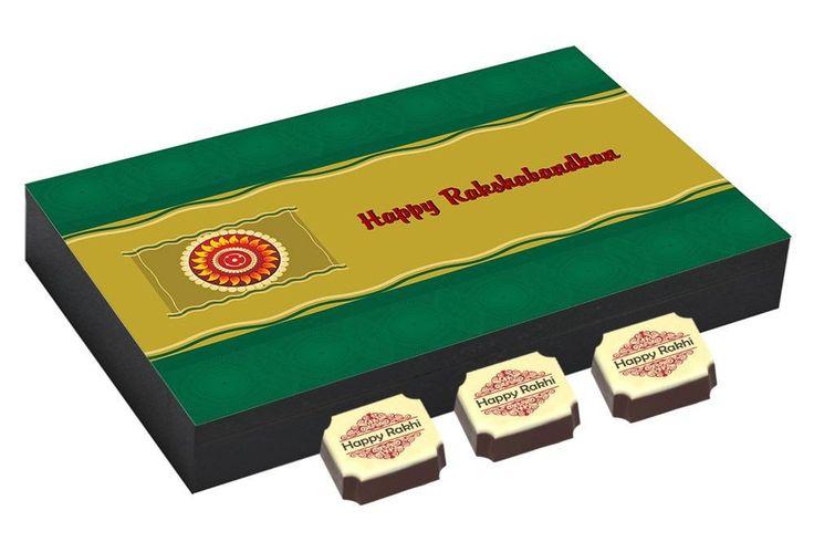 Gifts on rakhi - 12 Chocolate Gift Box - Rakhi festival gifts with Rakhi