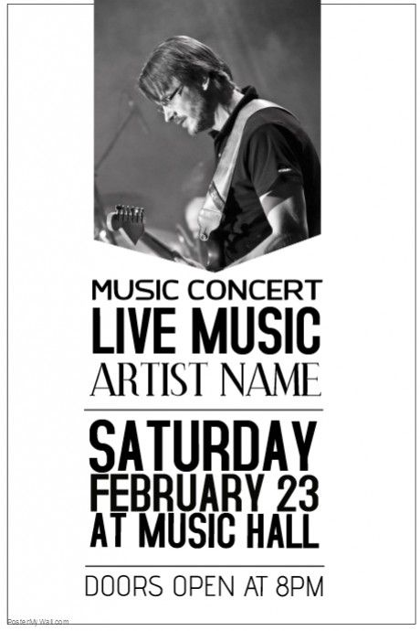 Best Guitar Concert Poster Template Images On