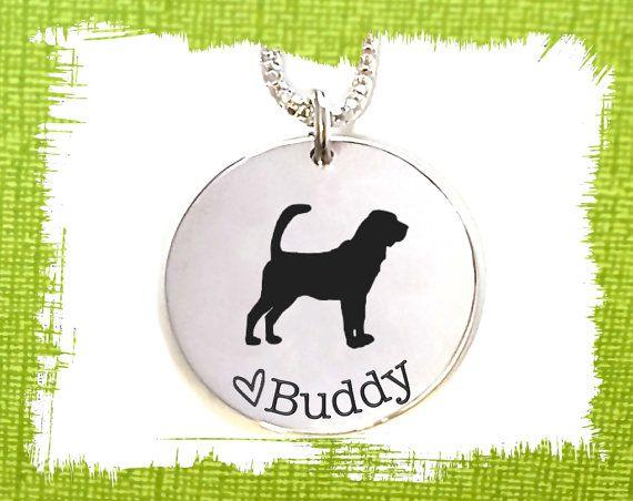 Bloodhound Dog Necklace  Bloodhound Dog Jewelry  by KorenaLoves