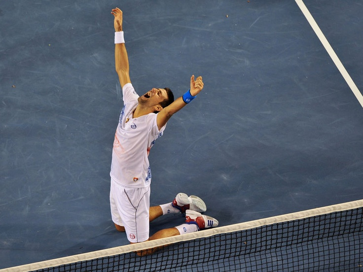Novak Djokovic beat Andy Murray in a classic semi-final contest