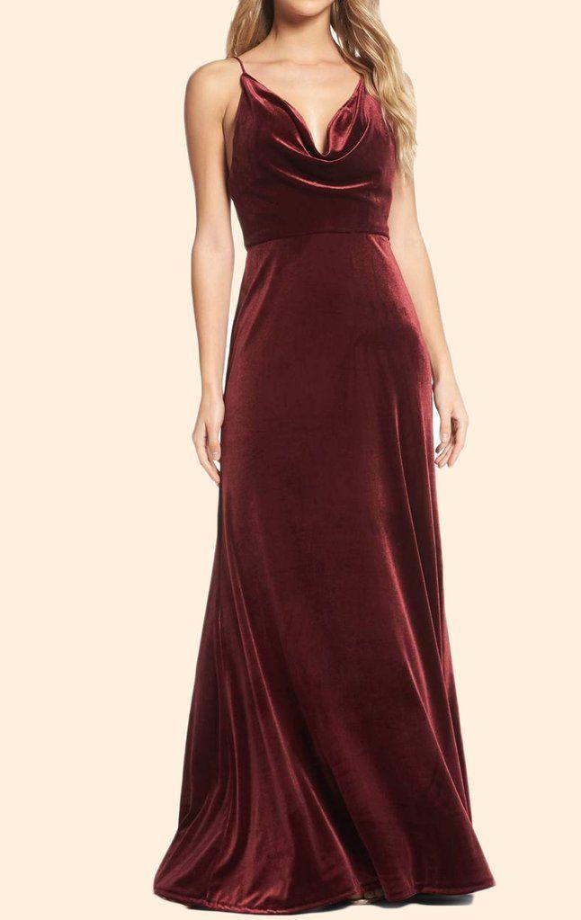 Halter Cowl Neck Valvet Long Formal Evening Gown Simple Burgundy Prom Dress Velvet Bridesmaid Dresses Burgundy Prom Dress Evening Gowns Formal