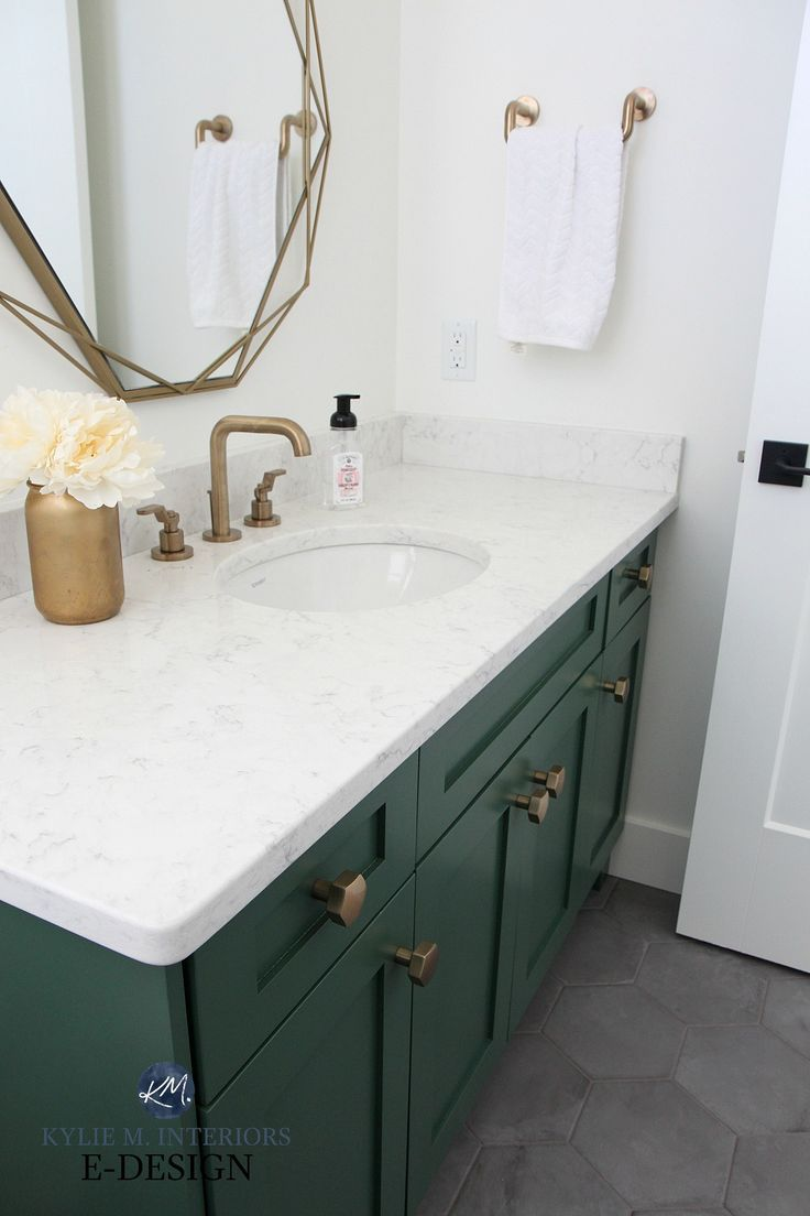 The 6 Best Paint Colours For A Bathroom Vanity Including White Painted Vanity Bathroom Green Bathroom Painting Bathroom