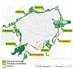 Mapa del Anillo Verde