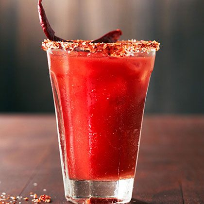 A spicy take on a Bloody Mary, with tequila instead of vodka. The chile salt makes enough for about 6 cocktails. The recipe comes from...