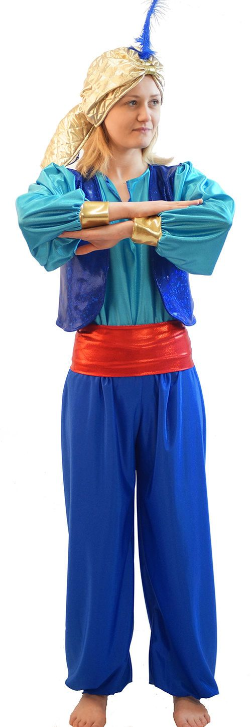 Panto-Aladdin BLUE GENIE OF THE LAMP & SULTAN HAT with FEATHER Child Sizes | eBay