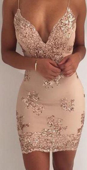 Sexy Cockrail Dresses,Backless Homecoming Dresses,V Neck Homecoming Dress,Tight Cocktail Dresses,Appliques Prom Dresse #dressforteenscasual