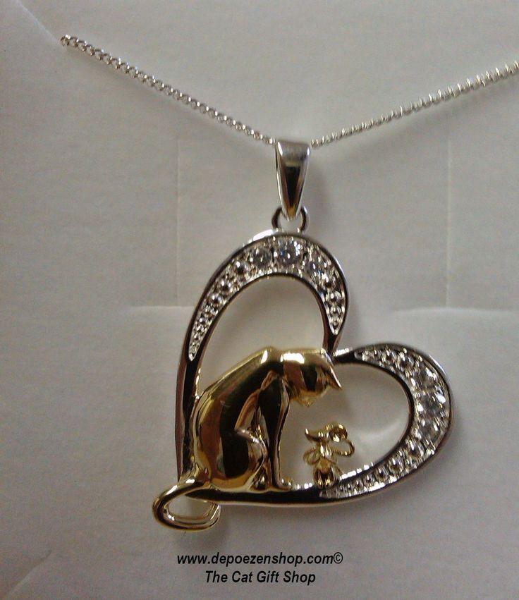 Gouden en zilveren #kattenjuwelen http://www.depoezenshop.com