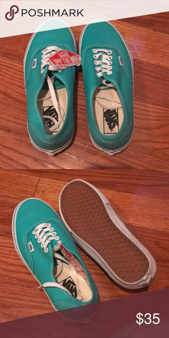 Teal Vans sneakers Size 9 women's (7.5 men's) teal Vans classics sneakers. These shoes are brand new & never worn before! Still has the tag attached. Vans Shoes Sneakers