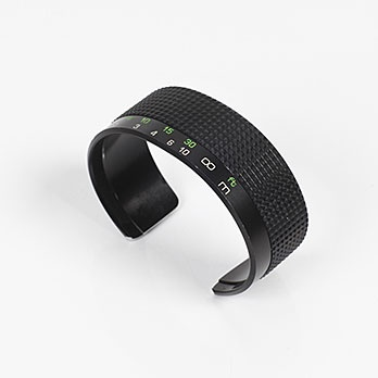 Recycled camera focus lens cuff $220