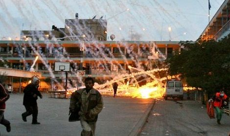 Israel's illegal use of white phosphorus during Operation Cast Lead and how the US media attempts to cover up Israeli war crimes.