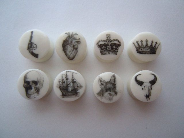 White Bone organic plugs- I would never gauge my ears, but I have friends that I think need these.