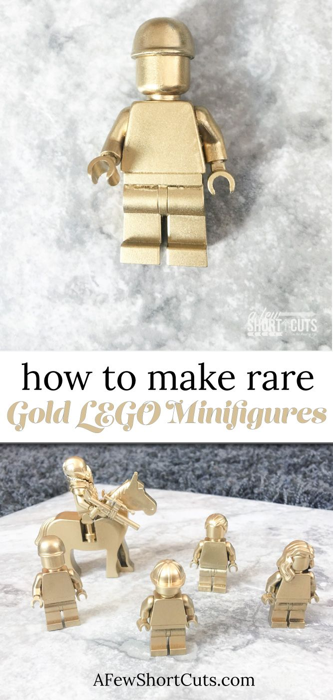 How to make rare gold lego minifigures easy diy projects for Diy lego crafts