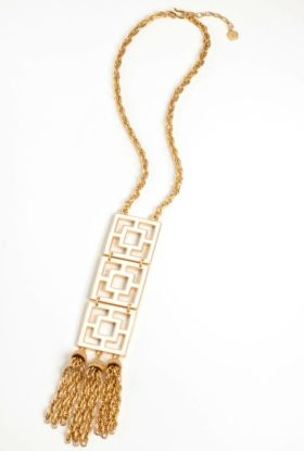 Enamel 3 Tier Brick Necklace