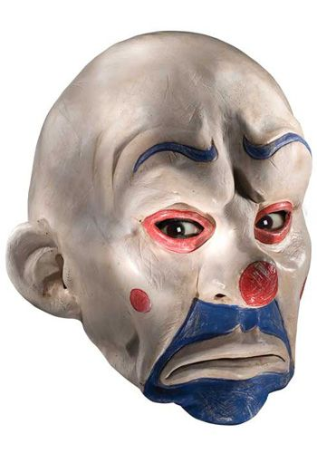 Adult Joker Clown Mask Be a part of the big heist with this clown mask!  This Joker clown half mask is made of latex and features holes at the  mouth, nose 5134cbfa54