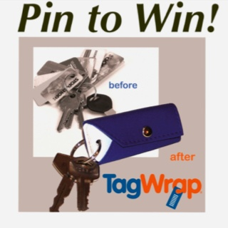 "PIN to WIN!  Repin this ""Pin to Win"" photo to one of your Boards. Everybody who Repins is entered.  We'll choose one winner each week to receive a FREE TagWrap Organizer!"