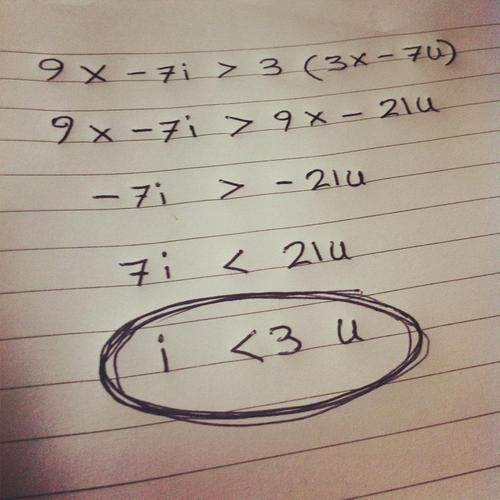 Imagine your crush asking for help on math and you dont recognize this problem and you solve it and...