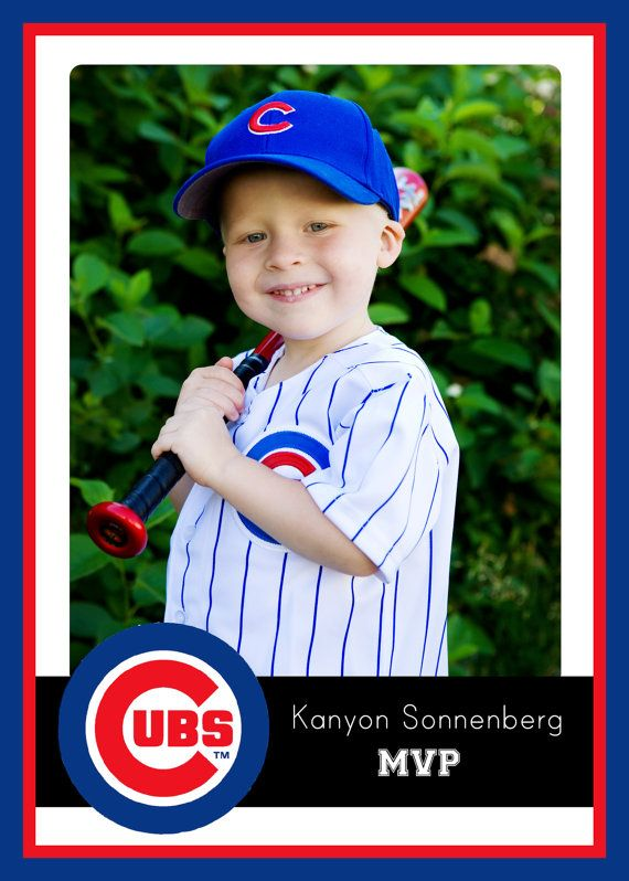 Chicago Cubs Baseball Birthday Invitation. Digital by MeghansView
