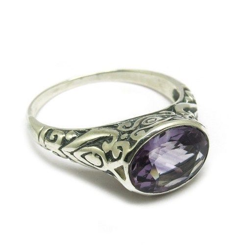 Excellent Look Of Natural Amethyst !! 925 Sterling Silver RingARCT1102-11 #Handmade
