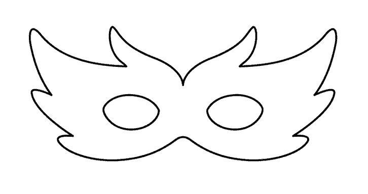 Molde para máscara de fantasia de carnaval