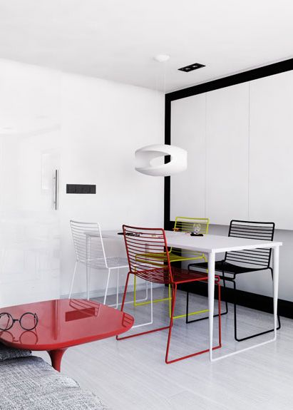 Dining space design in Bytom, POLAND - archi group. Jadalnia w mieszkaniu w Bytomiu.