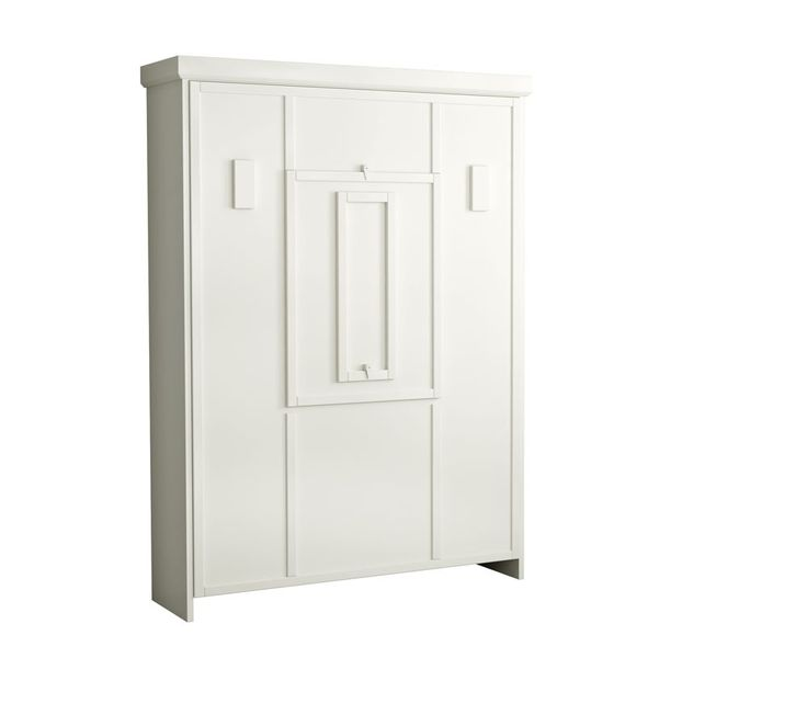 The Elsa Drop Down Table Murphy Bed In White Finish
