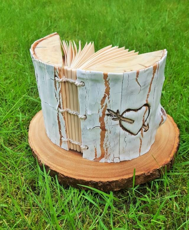 I made this wedding guest book cake for wedding anniversary. I used Angela Morrison crackled effect technique, I would like to thanks her for sharing the tutorial