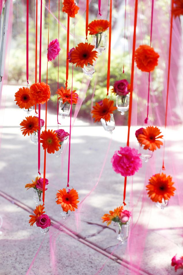 Colorful wedding floral designs pinterest the for Indoor diwali decoration