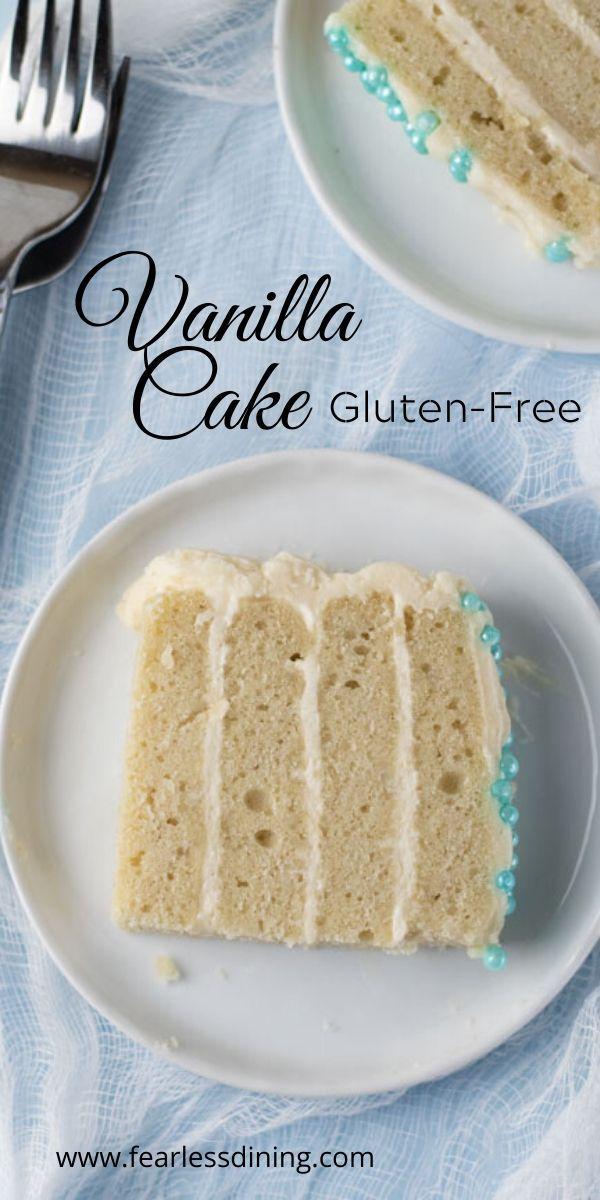 Gluten Free Vanilla Cake In 2020 Gluten Free Vanilla Cake Gluten Free Vanilla Cake Recipe Gluten Free Vanilla