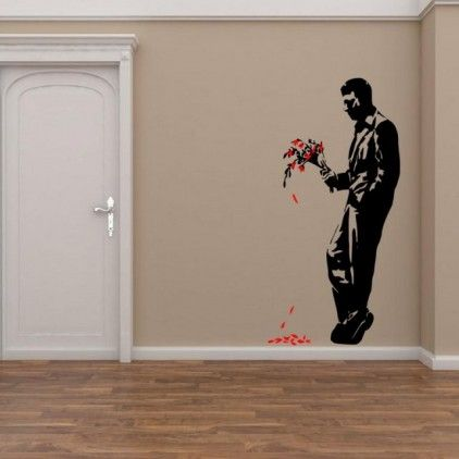 Banksy Graffiti 2013 - Hell's Kitchen - Wall Decor from Broomsticker | Made By Broomsticker.co.uk | £15.99 | BOUF