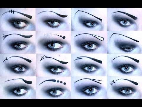 Creative Gothic Eyebrows (15+ different styles!) - YouTube