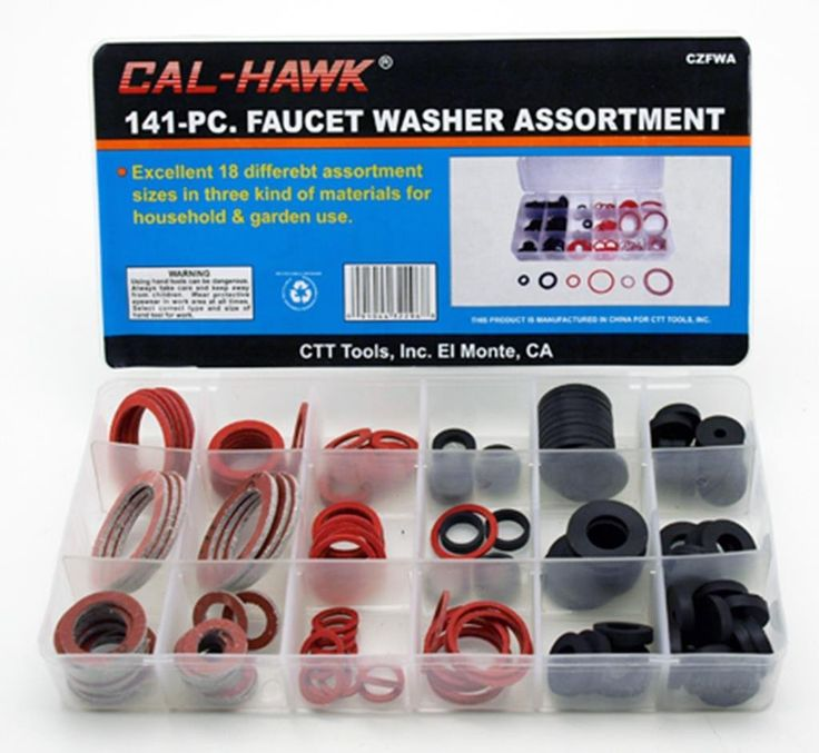 141 PC Faucet Washer Assortment