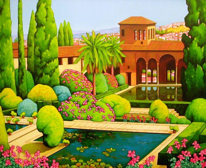 Jardines del partal 2012 ol o l 65x81 chico - Oleos de jardines ...