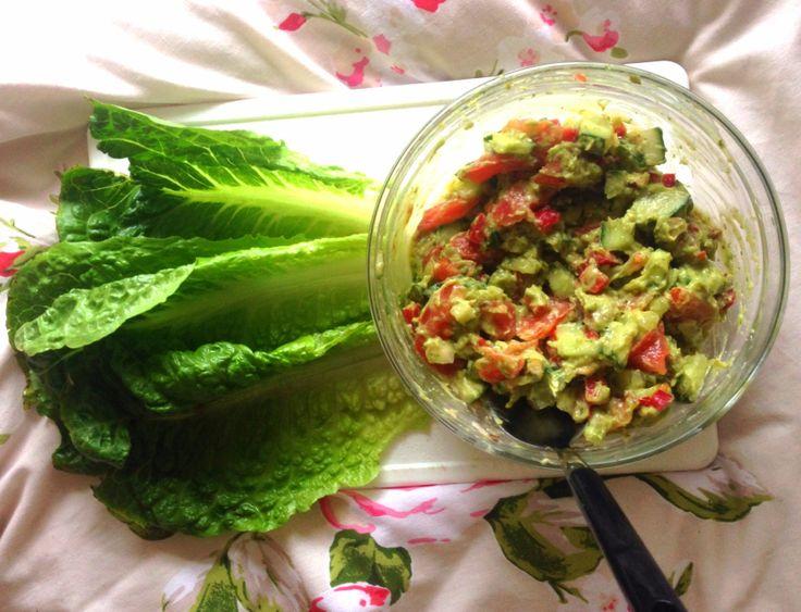 Lettuce wraps ... Heavenly raw!