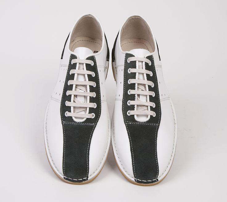 Watts White & Green Bowling Shoe