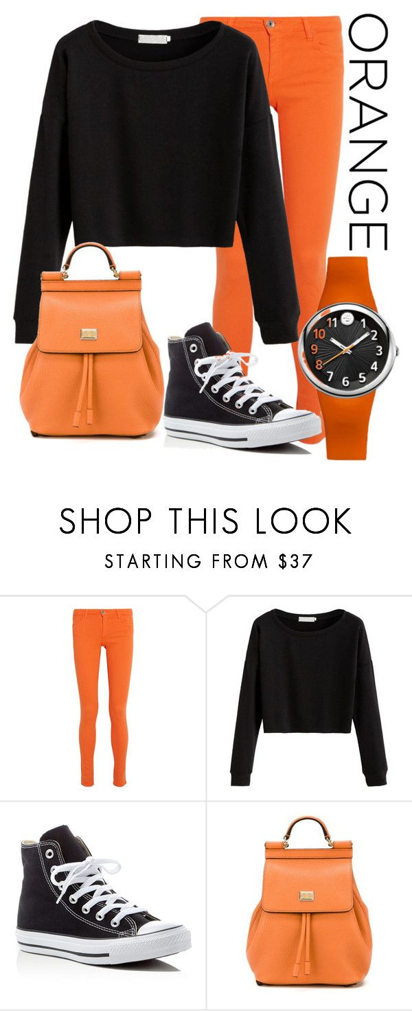 Orange & Black by asia-mcclain on Polyvore featuring #PhilipStein #SportWatch from #JRDunn