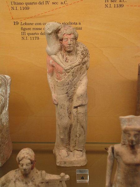 Arte Griego Arcaico, siglo V a.c. Mercurio o Hermes como el Buen Pastor