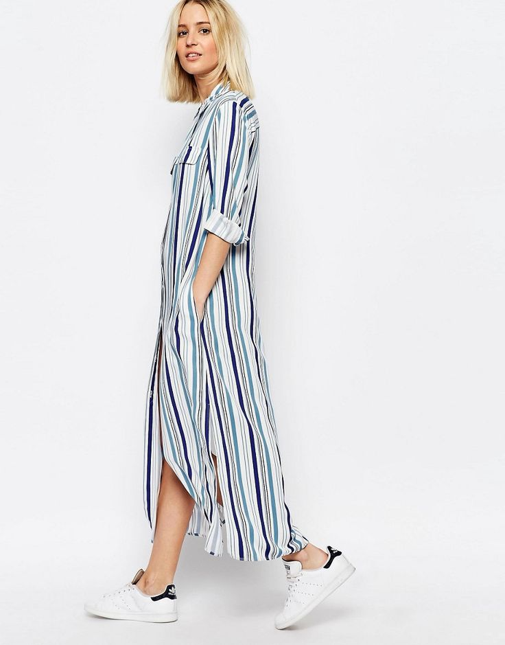 Image 1 of ADPT Maxi Shirt Dress