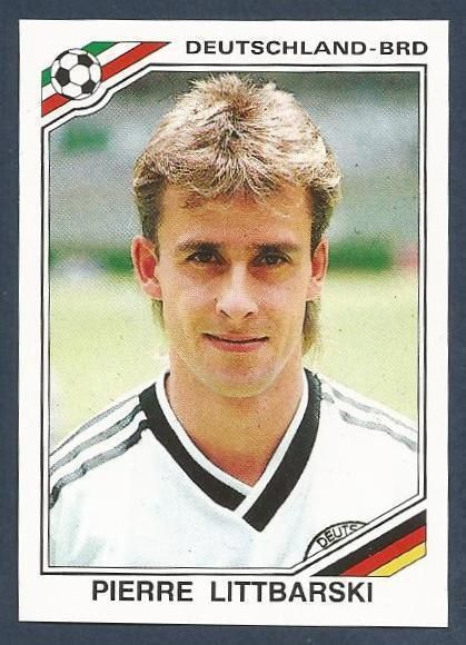 Pierre Littbarski of West Germany. 1986 World Cup Finals card.